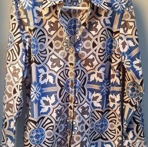 Foxcroft long sleeve blouse